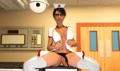 Get this hot nurse to go nude
